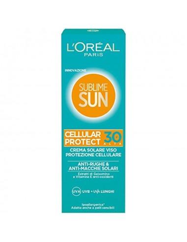 L'Oreal Sublime Sun Cellular Protect crema solare viso antirughe e anti-macchie spf 30 75 ml