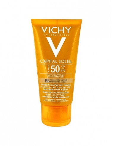 Vichy Ideal Soleil Emulsione Dry Touch BB protezione solare viso SPF50 50 ml