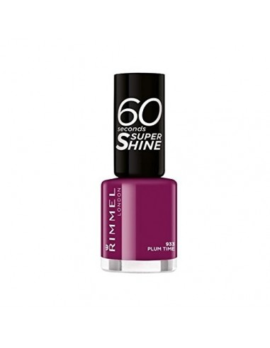 Rimmel 60 Seconds Super Shine Smalto Unghie 8ml 933 Plum Time