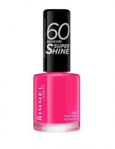 Rimmel 60 Seconds Super Shine Smalto Unghie 8ml 323 Funtime Fuchsia