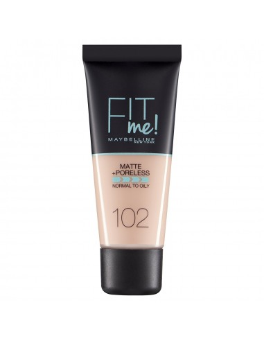 Maybelline Fit Me Matte and Poreless Fondotinta Opacizzante 102 Fair Ivory