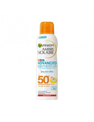 Garnier Ambre Solaire Kids Advanced sensitive protezione spray molto alta 50+ 200 ml