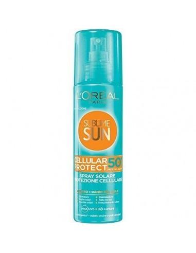 L'Oreal Sublime Sun Cellular Protect spray solare protezione molto alta 50+ 200 ml