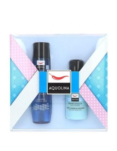 Confezione Aquolina Musk e Canna da Zucchero 150 ml acqua profumata + 125 ml bagno doccia