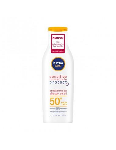 Nivea sun sensitive immediate protect latte solare 50+ 200ML
