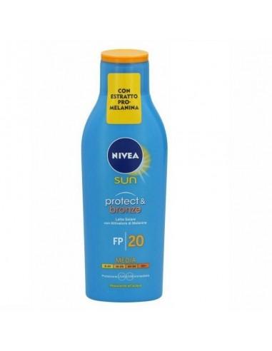 Nivea sun protect & bronze latte solare con attivatore di melanina sfp20 200 ml