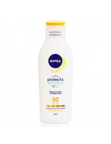 Nivea latte solare protect & sensitive spf 50 200 ml