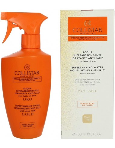 Collistar acqua superabbronzante idratante anti-sale con latte di aloe 400ml